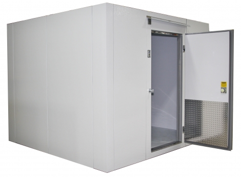 Lauro Equipment Custom Walk-In Freezer 8'x8'x7' with Floor Premium Low Temp Refrigeration Self-Contained
