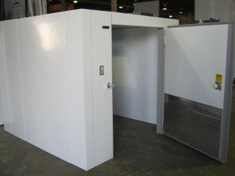Lauro Equipment Custom Walk-In Cooler 6'x10'x7' No Floor Economic Medium Temp Refrigeration Self-Contained