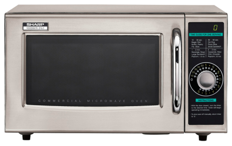 Sharp R-21LCF 1000 Watts Medium-Duty Commercial Microwave Oven