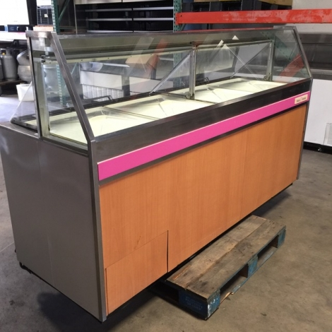 Kelvinator BRT-90P 16 Flavor Ice Cream Dipping Cabinet on Casters