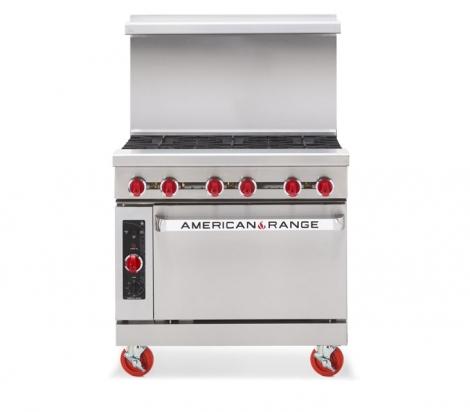 """American Range AR-6NV 36"""" Wide 6 Burner Heavy Duty Restaurant Range Gas w/Innovection Oven"""