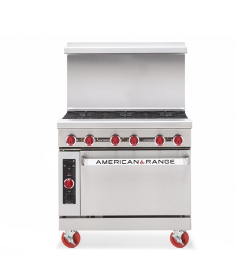 "American Range AR-5 36"" Wide 5 Burner Heavy Duty Restaurant Range Gas"
