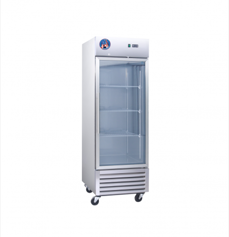 Americool AM-23RG 1 Door Glass Reach-In Refrigerator