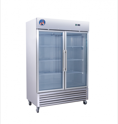 Americool AM-49RG 2 Door Glass Reach-In Refrigerator