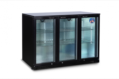 Americool AMBBBT-350 Triple Hinged Glass Door Backbar Refrigerator