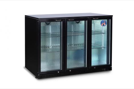Americool AMBBBT-350 Triple Hinged Glass Door Backbar Refrigerator