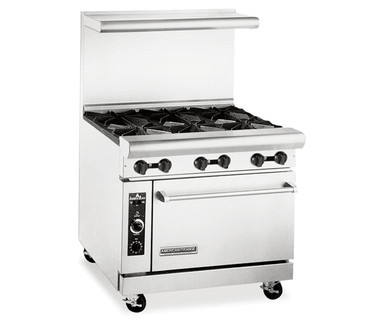 "American Range AR-6 36"" Wide 6 Burner Heavy Duty Restaurant Range Gas"