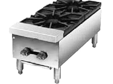 "American Range ARHP-12-2 12"" Wide 2 Burner Countertop Hot Plate Gas"