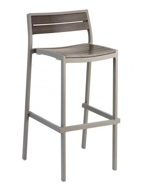 Florida Seating BAL-5700 Warm Gray Outdoor Barstool