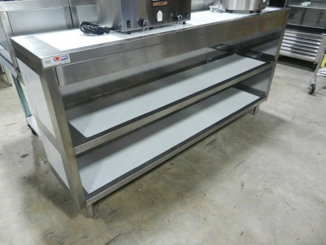 "US Stainless USDC-1572-418 15""x72"" Stainless Steel Dish Storage Cabinet"