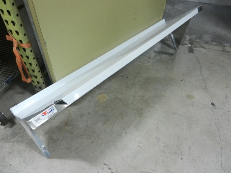 """US Stainless USWS-1460-418 14""""x60"""" Stainless Steel Wall Mount Overshelf"""