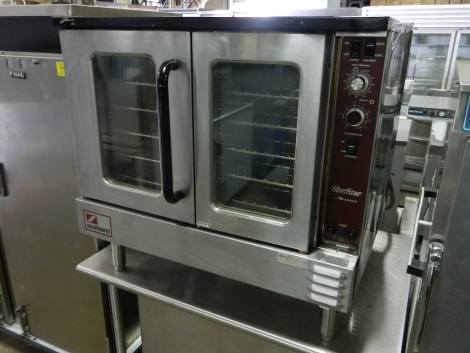 SilverStar by Southbend SLEB-10SC Bakery Depth Single Stack Full Size 2dr. Glass Electric Convection Oven