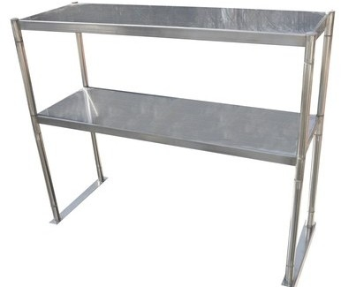 "Serv-Ware OS-6E-CWP 12""x72"" Stainless Steel Double Tier Over Shelf"
