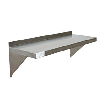 "Serv-Ware SSWS1460-CWP 14""x60"" Stainless Steel Wall Shelf"