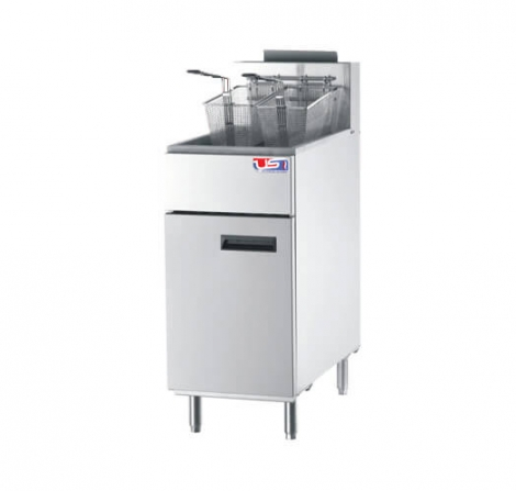 US Cooking USFF-400 50lb. Commercial Natural Gas Fryer 136K BTU