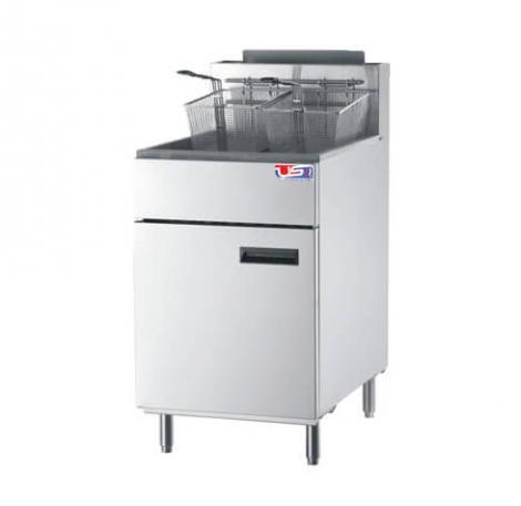 US Cooking USFF-500 75lb. Commercial LP Gas Fryer 150K BTU