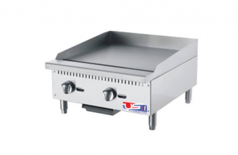 "US Cooking USFG24 24"" 2 Burner Commercial Gas Griddle"