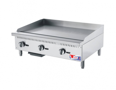 "US Cooking USFG36 36"" 3 Burner Commercial Gas Griddle"