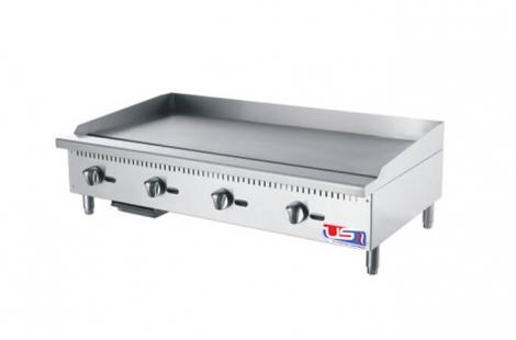 """US Cooking USFG48 48"""" 4 Burner Commercial Gas Griddle"""