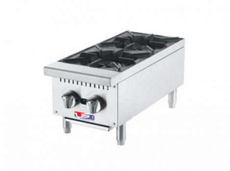 "US Cooking USFH12-2 12"" Commercial Gas 2 Burner"