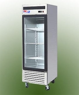 US Refrigeration USBV-24SD 1 Door Glass Reach-In Refrigerator