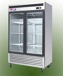 US Refrigeration USBV-48SD 2 Door Glass Reach-In Refrigerator