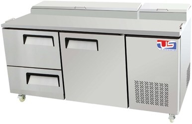 US Refrigeration USPV-67-12D 2 Drawer Pizza Prep Table