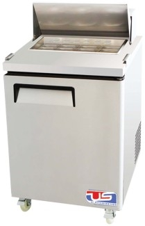 US Refrigeration USSMV-28 1 Door Mega Top Salad Prep Table