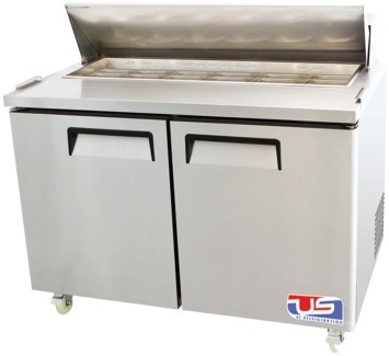 US Refrigeration USSMV-48 2 Door Mega Top Salad Prep Table
