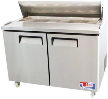 US Refrigeration USSMV-60 2 Door Mega Top Salad Prep Table