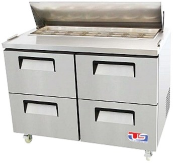 US Refrigeration USSV-48-04D 4 Drawer Salad Prep Table