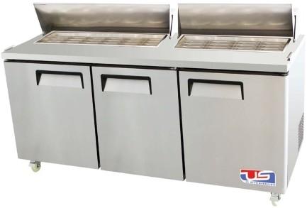 US Refrigeration USSV-73 3 Door Salad Prep Table