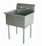 "US Stainless USS1C242414 29"" 1 Compartment Stainless Steel Sink"