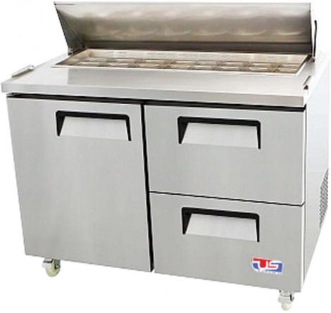 US Refrigeration USSV-48-12D 1 Door Salad Prep Table