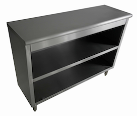 "US Stainless USDC-1548-418 15""x48"" Stainless Steel Dish Storage Cabinet"