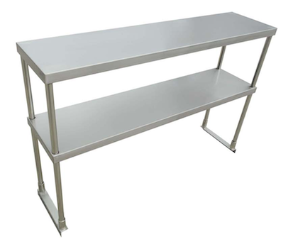 "US Stainless USDOS-1260-416 12""x60"" Stainless Steel Double Overshelf"