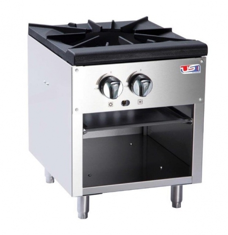 "US Cooking USSP-18-1 18"" Single Burner Stock Pot Stove"