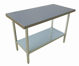 "US Stainless USWTS-3072-416 30""x72"" All Stainless Steel Work Table 16 Gauge Top"