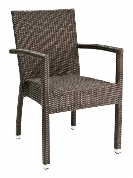 Florida Seating WIC-01 Coffee Stackable Indoor/Outdoor Arm Chair