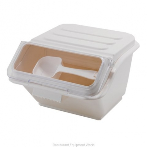 Winco IB-2S 2 Gallon Stackable Shelf Ingredient Bin with Lids