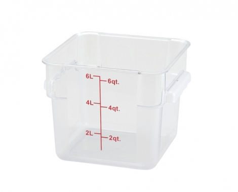 Winco PCSC-6C 6qt Clear Storage Container