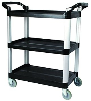 Winco UC-40K 3 Tier Utility Cart
