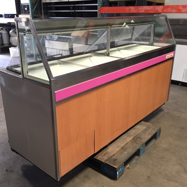 BRTP Flavor Ice Cream Dipping Cabinet On Casters - Dipping cabinet