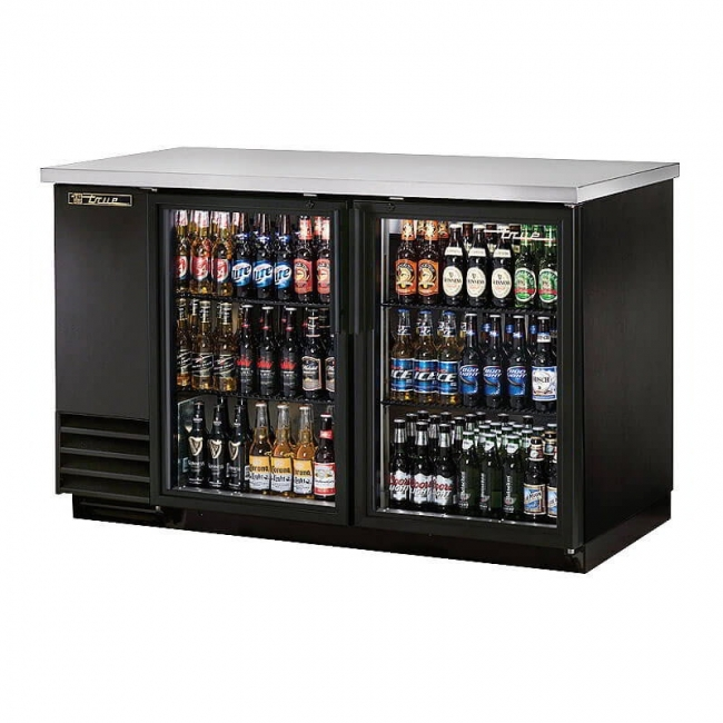 True Tbb 2g Hc Ld 59 Quot 2 Door Glass Back Bar Refrigerator