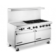 "American Range AR24G-6B 60"" Wide 6 Burner 24"" Griddle Heavy Duty Restaurant Range Gas"