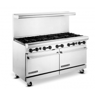 "American Range AR-10 60"" Wide 10 Burner Heavy Duty Restaurant Range Gas"