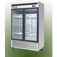 US Refrigeration USBV-48SDF 2 Door Glass Reach-In Freezer