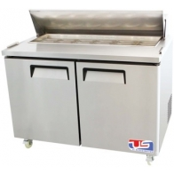 US Refrigeration USSMV-48 2 Door Mega Top Salad Prep Table