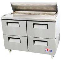 "US Refrigeration USSV-48-04D 48.25"" 4 Drawer Stainless Steel Salad Prep Table"