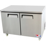 "US Refrigeration USUV-48F 48.25"" 2 Door Stainless Steel Undercounter Freezer"